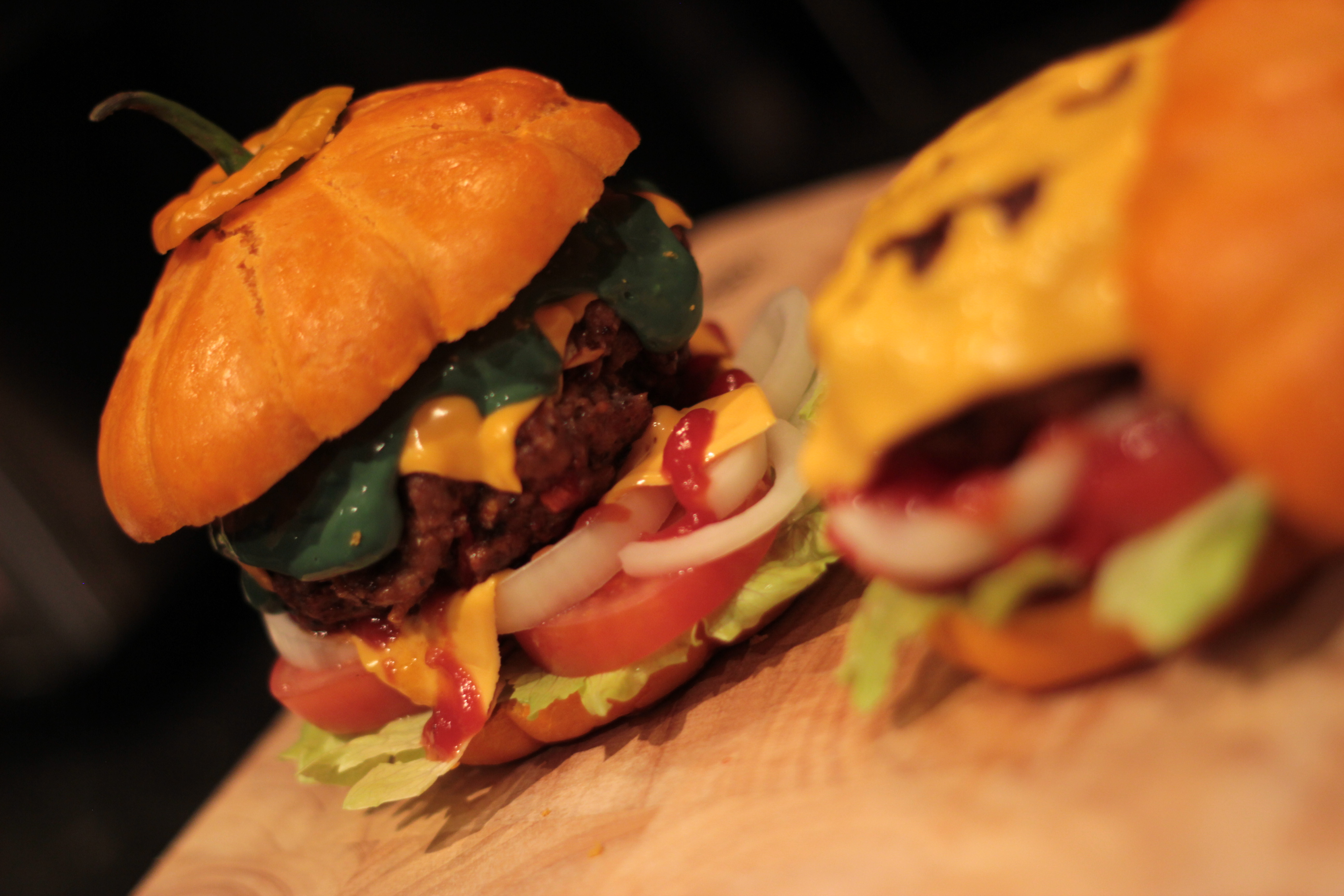 Halloween Hamburgers.Recipe Halloween Burger James Vs Burger