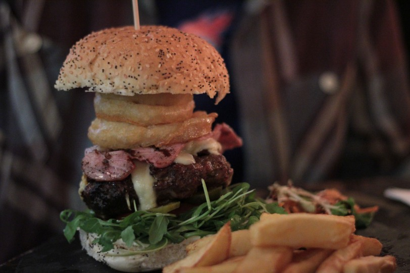 One of the biggest burgers in Glasgow