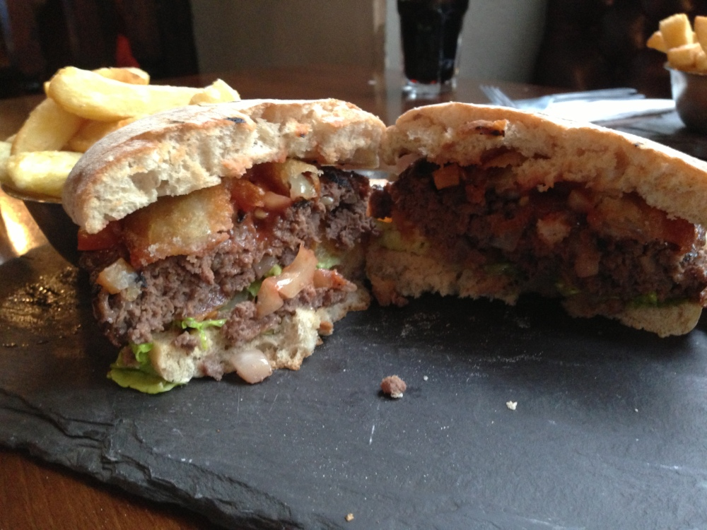 Inside the MacSorley's Burger