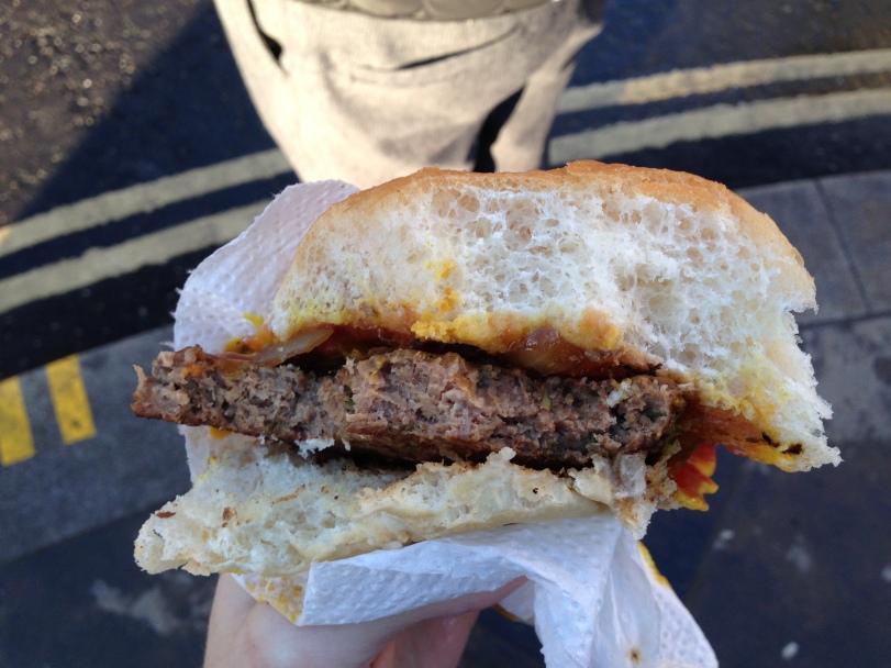 Inside the Angus burger
