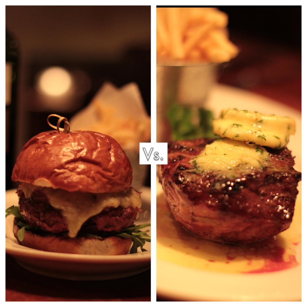 Burger vs. Steak
