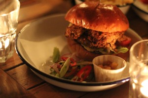 The Bombay Burger Special. Curry good-ness!