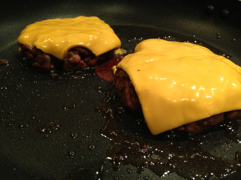 Melting the American cheese
