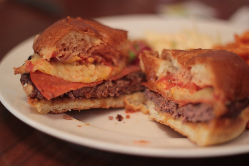 Inside the Pizza Burger
