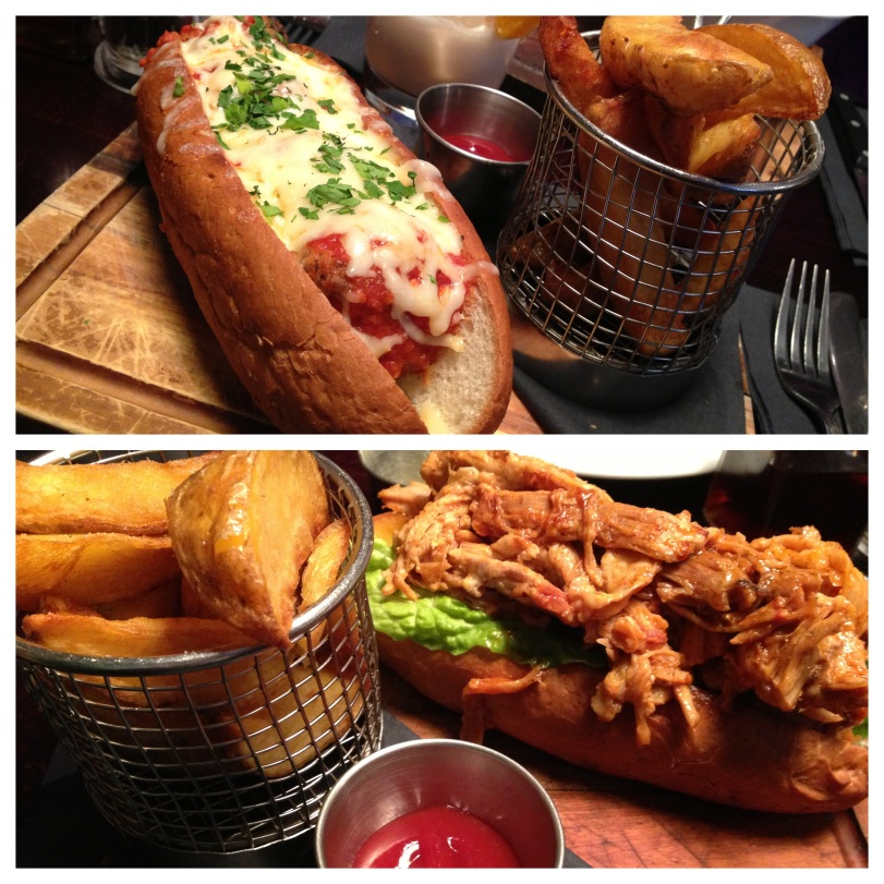 Both are served with handcut chips for £8.95