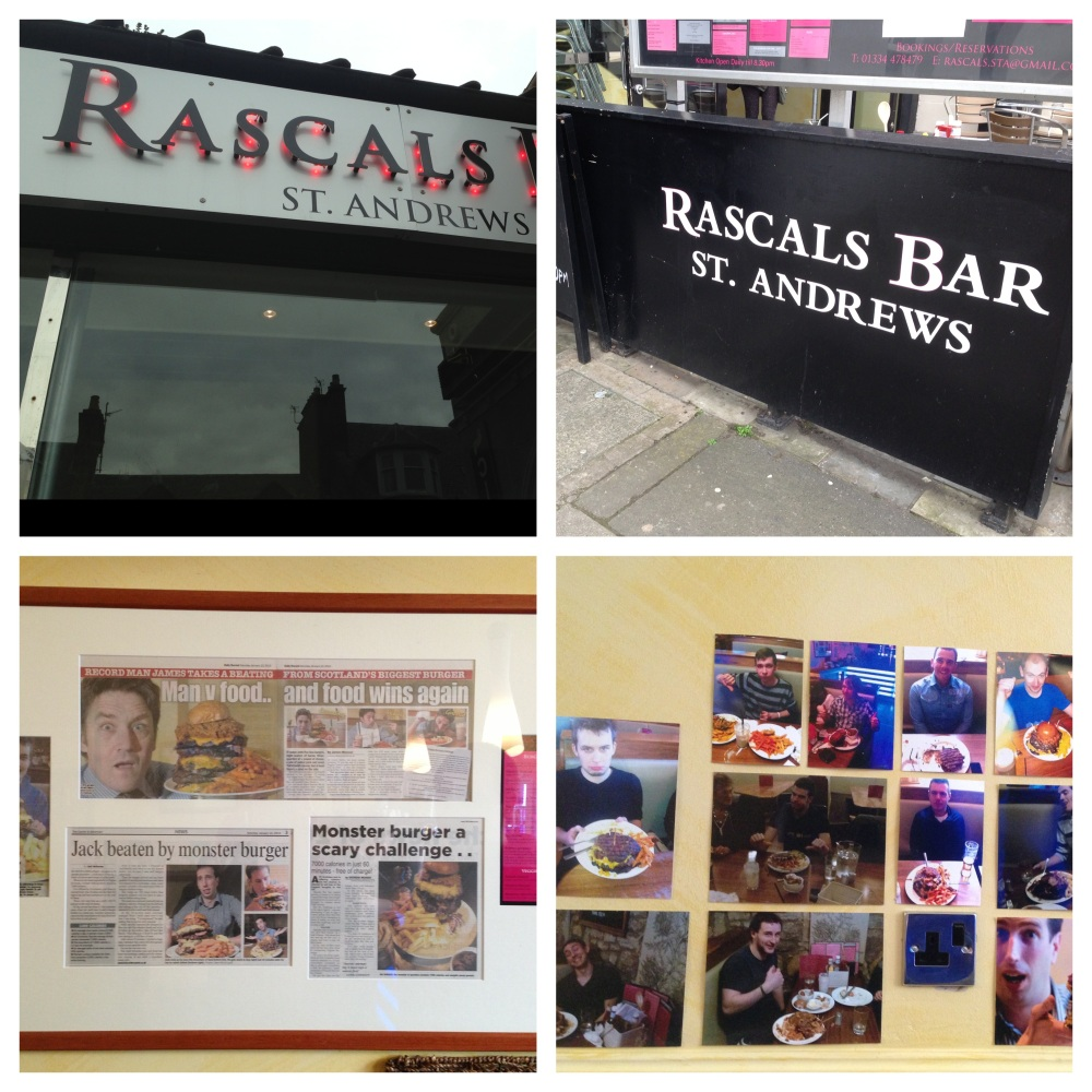 Outside of Rascals bar, The media coverage wall and the wall of fame/shame