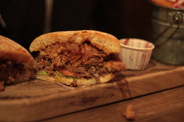Despite a poor bun, the pulled pork burger was pretty great!