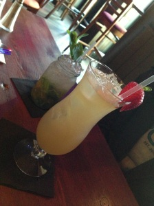 The drinks. The Hurricane Skippy (front) and the Louisiana Jam.