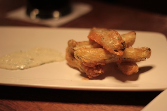 Deep-fried pickles