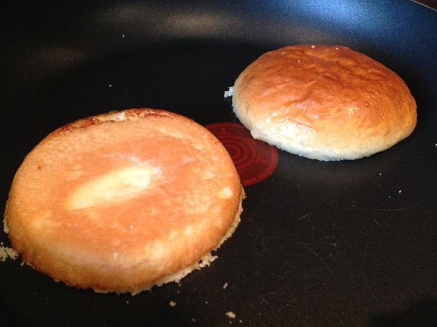 Toasting the buns