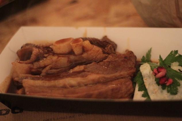 Slow-braised beef rib.