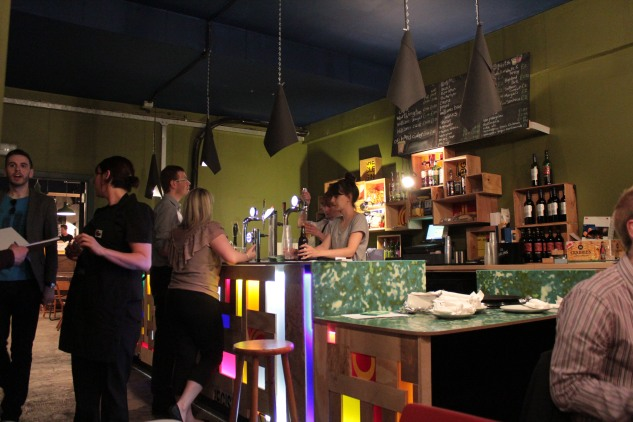The bar inside the venue area of the cafe.