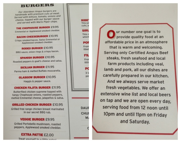 The Burger Menu