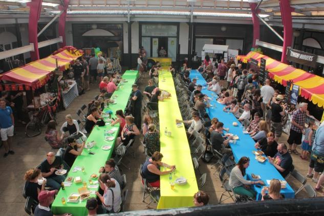 The Street Feastival in full swing.