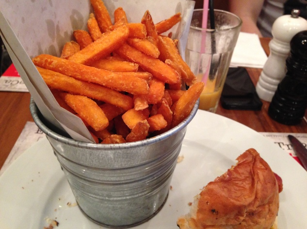 The sweet potato fries were outstanding.