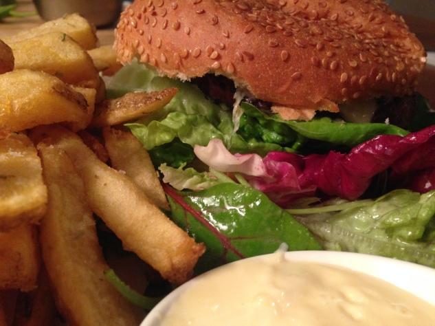 The Classic Burger...up close.