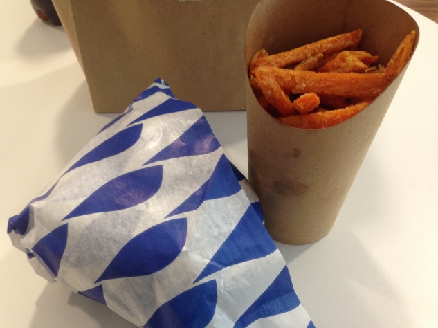 The sweet potato fries have improved a lot since our first review.