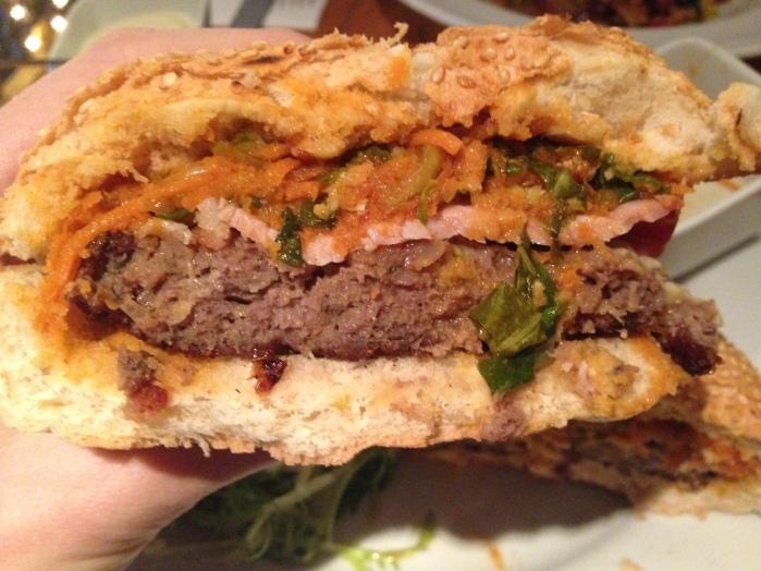 Inside the Stravaigin Beef Burger