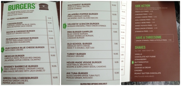 The Menu (click to enlarge)