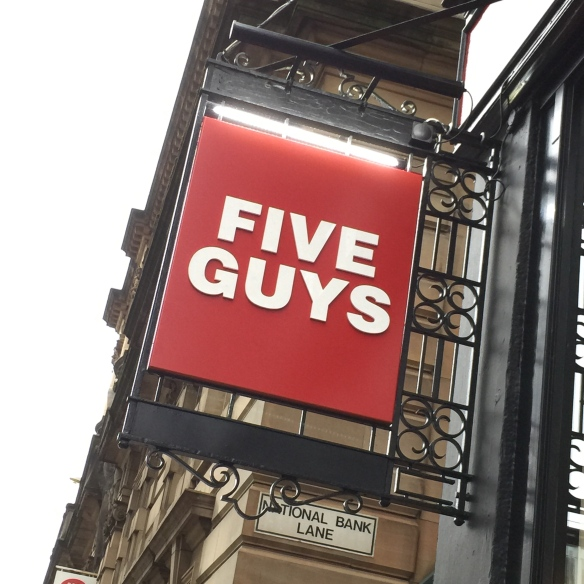 Five Guys, Glasgow.