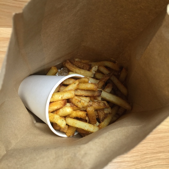 Even a regular portion of fries is massive. Expect to find them on top of, around and under your burger.