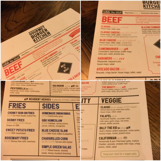 A look at the menu.