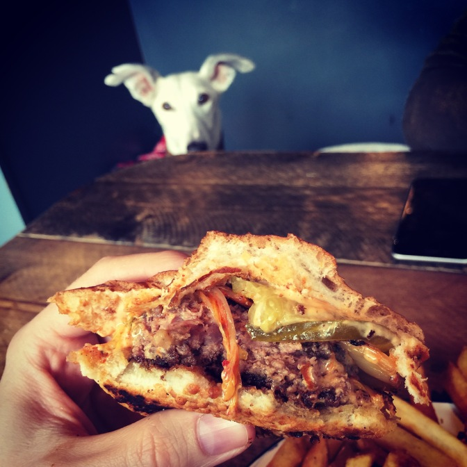 Inside the Cult burger. Ever get the feeling that you're being watched?